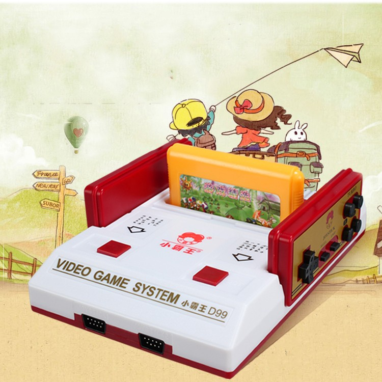 小霸王遊戲機D99 家用電視8 位FC 插黃卡雙人手柄懷舊 紅白遊戲機售400 和一卡
