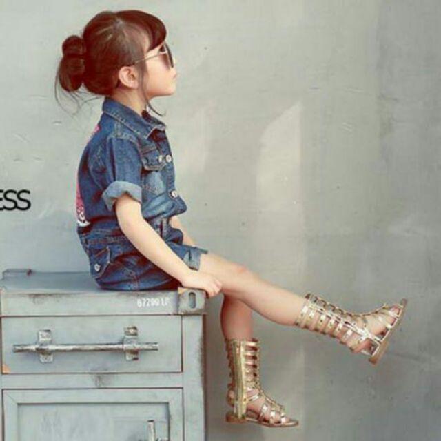 新品 女童 星星羅馬涼鞋