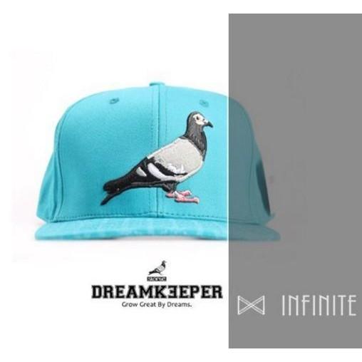 STAPLE 美式街頭鴿子 藍綠色爪印棒球帽平沿帽潮流嘻哈滑板帽子男女