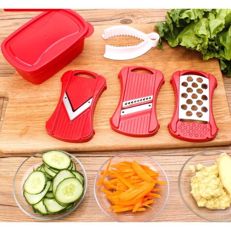 掌上型刨切組寶寶副食品蔬菜沙拉果泥切片器切絲器研磨器迷你切菜器三合一多 切菜器嬰兒磨泥器磨