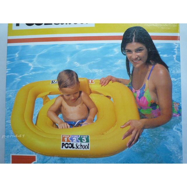 玩樂 美國INTEX 56587 方形幼兒雙層充氣游泳圈嬰兒坐圈兒童浮圈兒童夏天玩水游泳戲