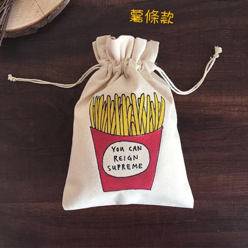 原創插畫系列純棉帆布袋束口袋抽繩袋圖案可定制logo
