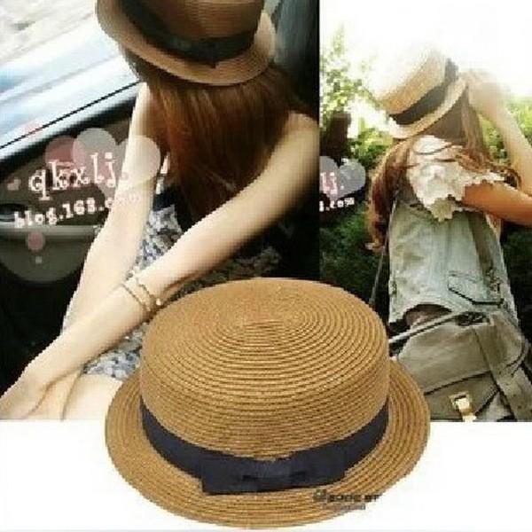 花露米 男童女童草帽兒童帽子寶寶太陽帽遮陽帽親子帽母子帽漁夫帽潮