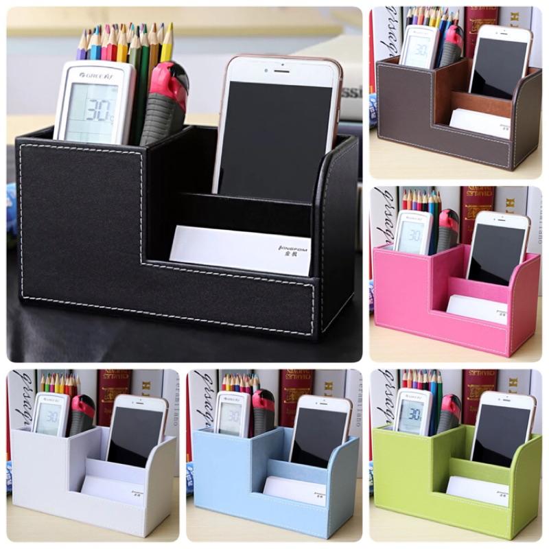 商務筆筒 皮革多 桌面用品辦公室韓國文具收納盒小清新