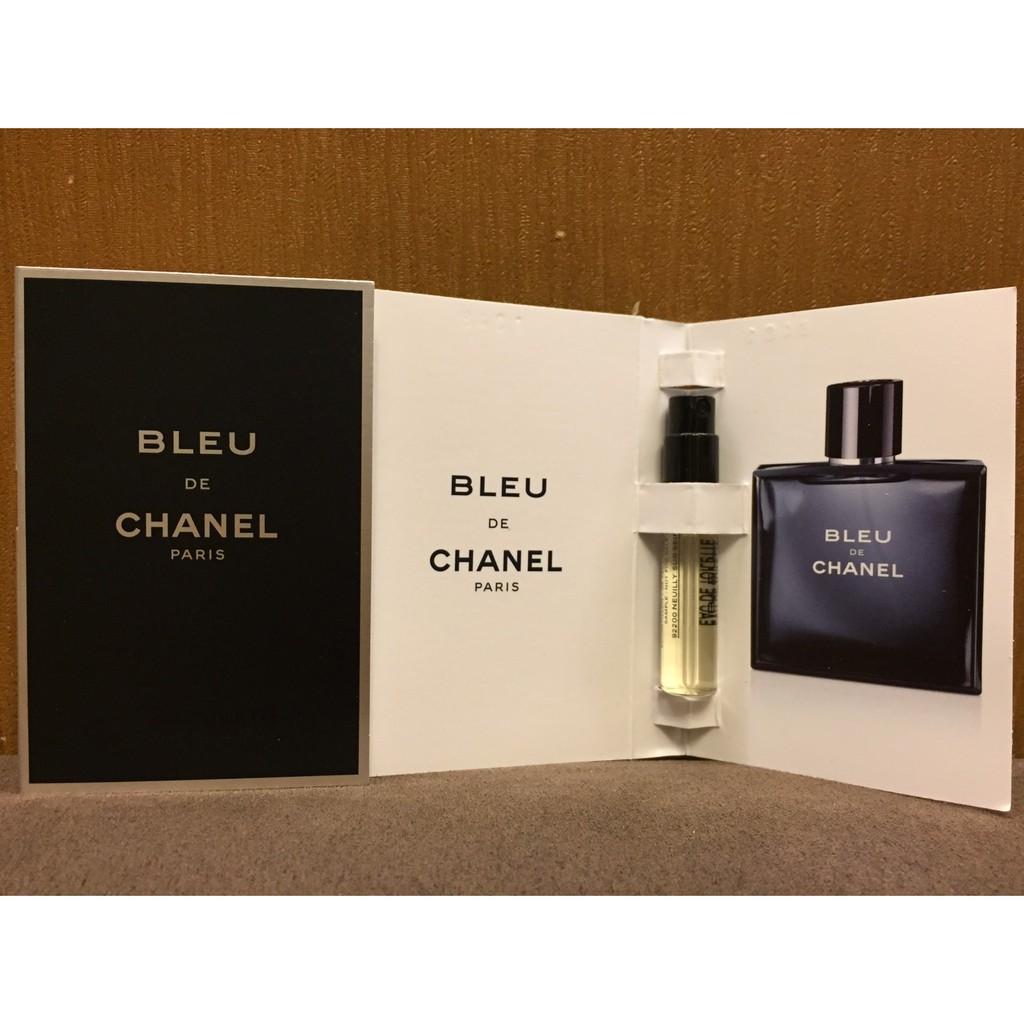 美國空運Chanel Bleu de Chanel 香奈兒藍色男性香水針管試管2ML