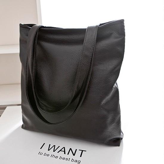 老闆不賣了  水洗pu 皮大方包超大容量簡約萬用黑色皮革包素面側背包肩背包書包拉鍊 袋杜達