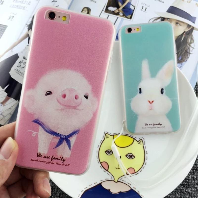 小豬兔子i7 i7plus 蘋果iphone5 5s se 手機殼i6 6s 全包軟邊殼i