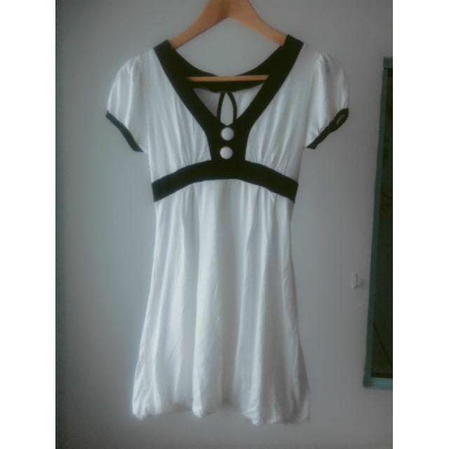 短袖修身小禮服洋裝