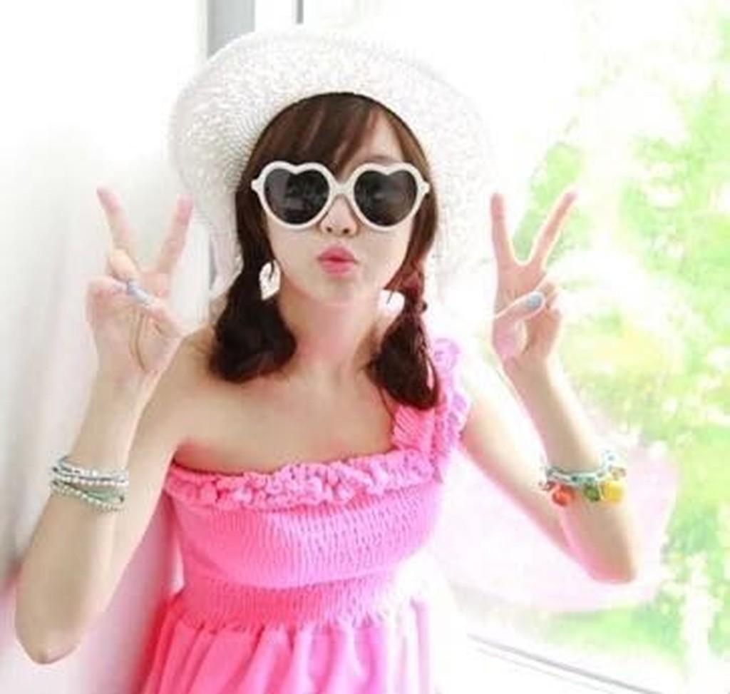 白色  ) 日韓潮流雷朋眼鏡愛心眼鏡眾明星愛用款來自星星千頌伊派瑞絲希爾頓同款墨鏡太陽眼鏡