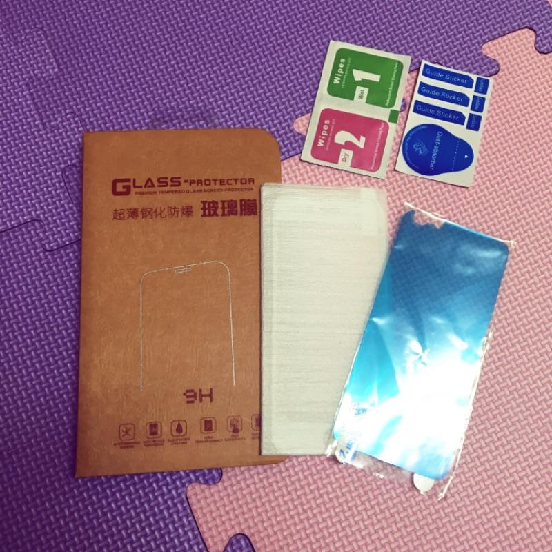 Iphone6 9H 超薄鋼化防爆玻璃膜白色(附背面保護貼)(滿版)