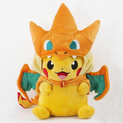 寵物小精靈神奇寶貝 寵物小精靈毛絨玩具神奇寶貝噴火龍外套皮卡丘毛絨公仔