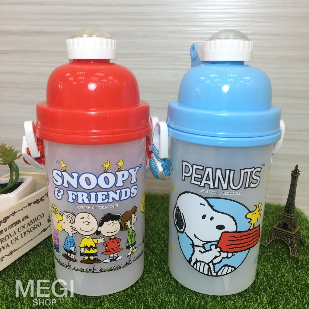 開學季史努比~500cc 水壺~one touch 吸管兒童水壺隨身外出水壺可愛方便小朋友