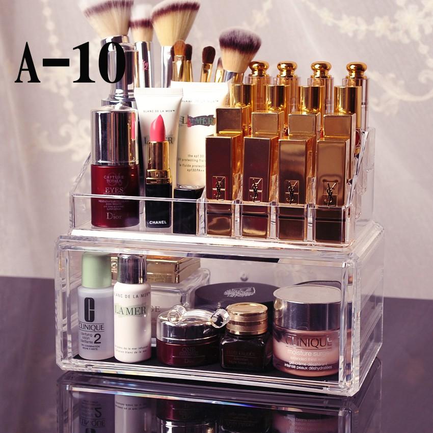 透明壓克力套裝收納盒口紅架美妝收納彩妝整理盒化妝刷收納多 收納盒十款選部分