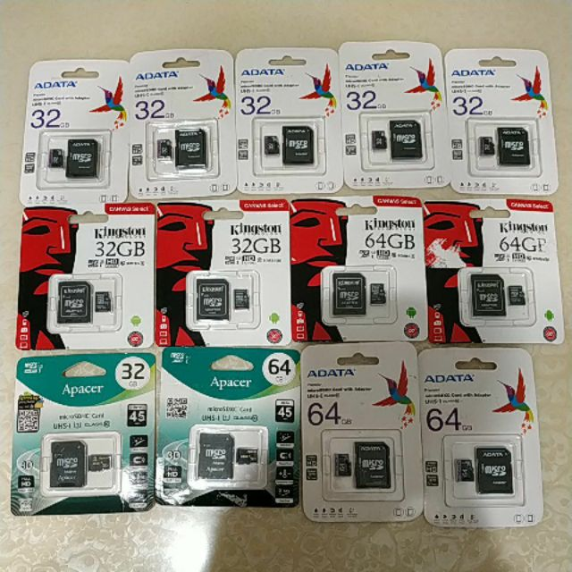 ADATA Kingston Apacer 32G 64G 記憶卡