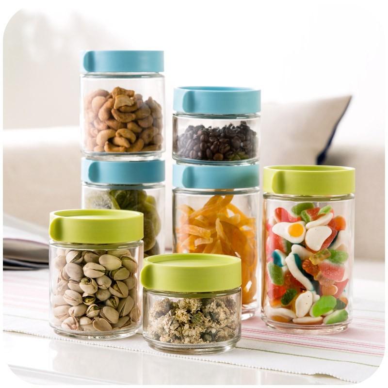 ~海豚雜貨~居家家玻璃瓶密封罐玻璃罐儲物罐五谷雜糧密封瓶子玻璃罐子奶粉罐