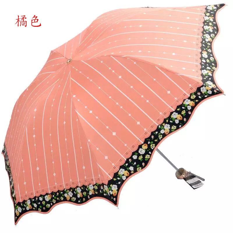 ~喜雨集~天堂傘三折黑膠太陽傘防曬防紫外線遮陽傘雨傘折疊傘超輕晴雨傘