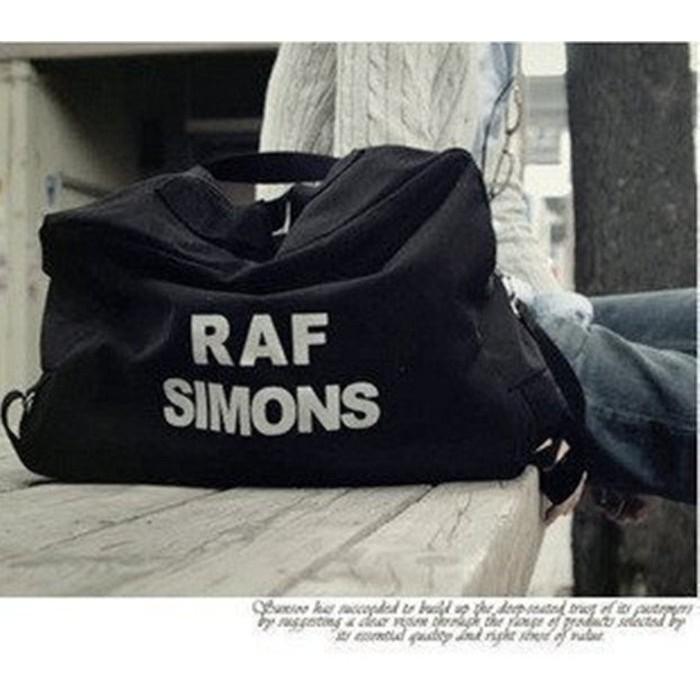 比利時RAF SIMONS 帆布耐磨大容量包包單肩斜背雙肩手提三用多 隨興背包休閒旅行袋