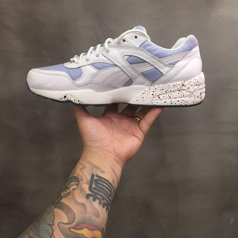 意大利LC23 puma 聯名限定款牛仔藍白男女鞋36 44