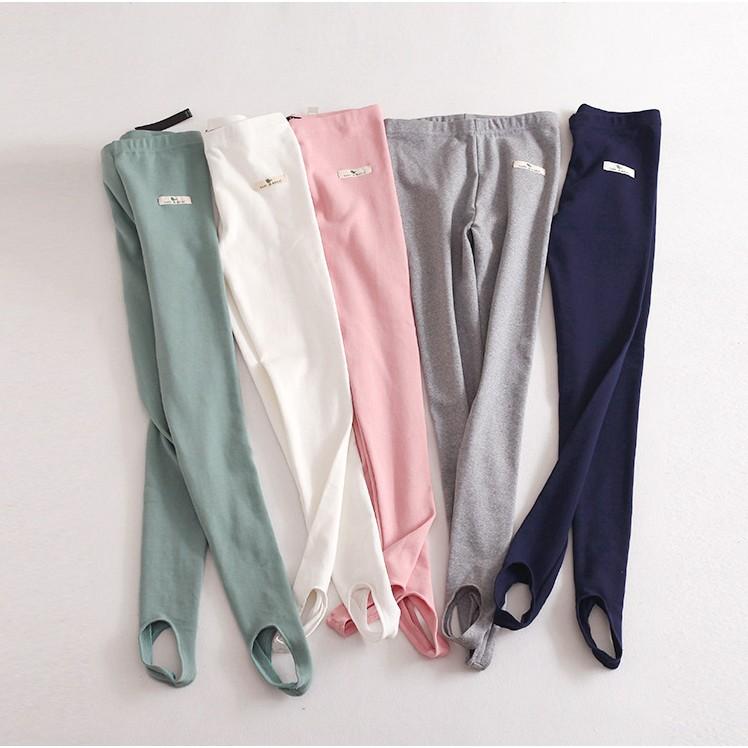新品女士純棉卡通動物貼布踩腳打底褲 彈力打底褲