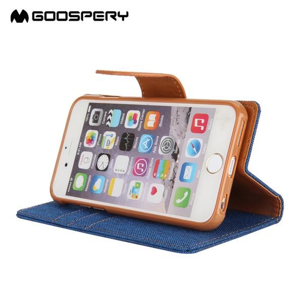韓國goospery 蘋果7P 5 5 寸機殼Phone7plus 保護套时尚新帆布翻蓋皮