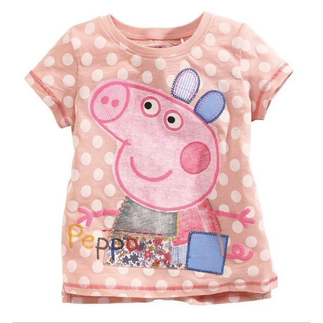 ~ ~佩佩豬 純棉兒童T 恤短袖兒童T 恤深受小朋友喜愛粉紅豬小妹圖案活潑可愛好看百搭今年