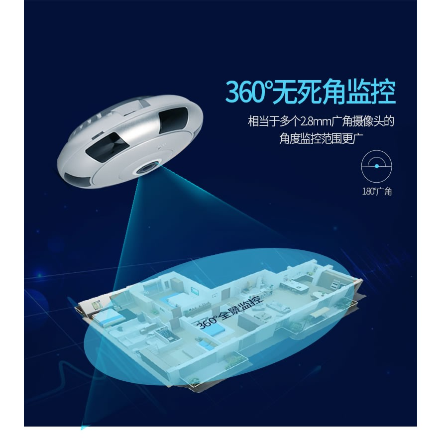 v380 監控360 度全景夜視 無線監控攝影機監視器無線攝影機錄影機 攝影機WIFI
