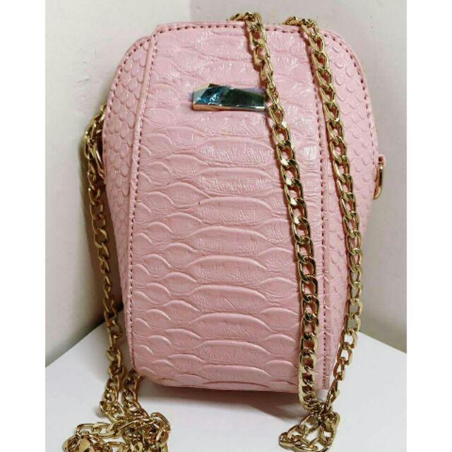 款斜背包內附金色鏈條硬挺包亮面 包迷你小包手機包女單肩包側背小包