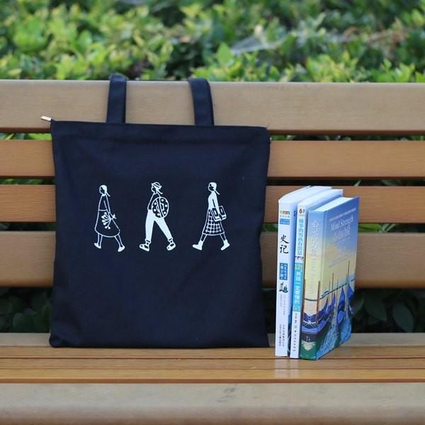 款 價 文藝帆布包學生單肩包手提包女包字母帆布袋~Trend Fitch