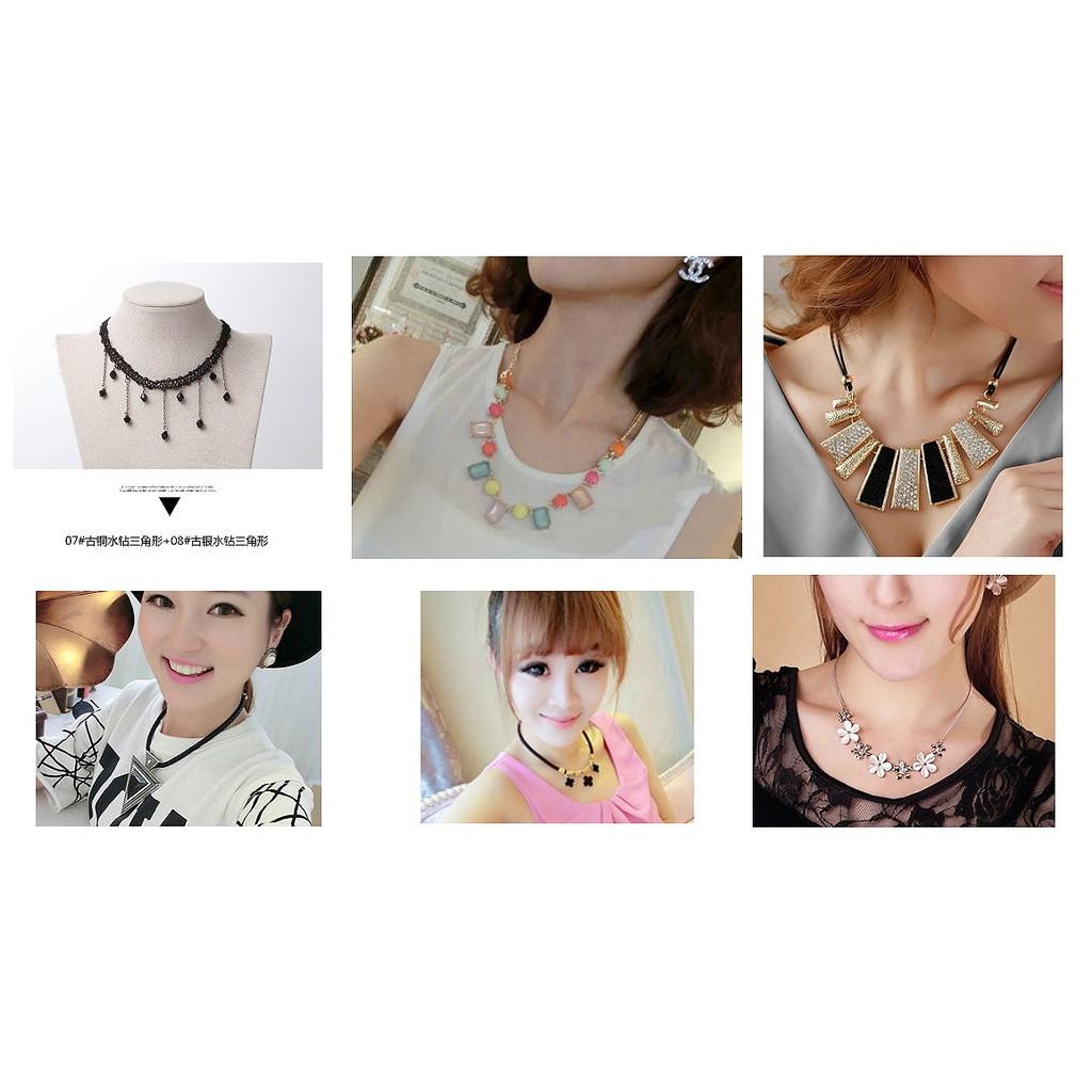 韓國 氣質多款項鍊短款鎖骨鏈女配飾掛件項鍊 飾品裝飾項鍊毛衣鍊生日 ,情人