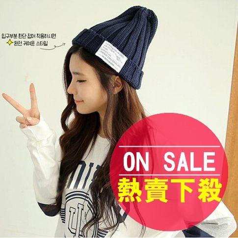 韓國拼布標籤毛帽 針織毛線帽標籤盆帽漁夫帽外套罩衫圍巾脖圍雪靴~RC362 ~