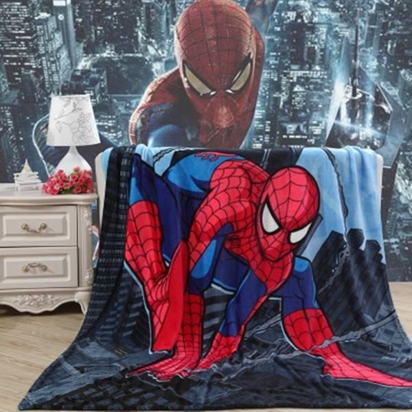 7 14 天卡通蜘蛛人珊瑚絨毛毯100 140cm