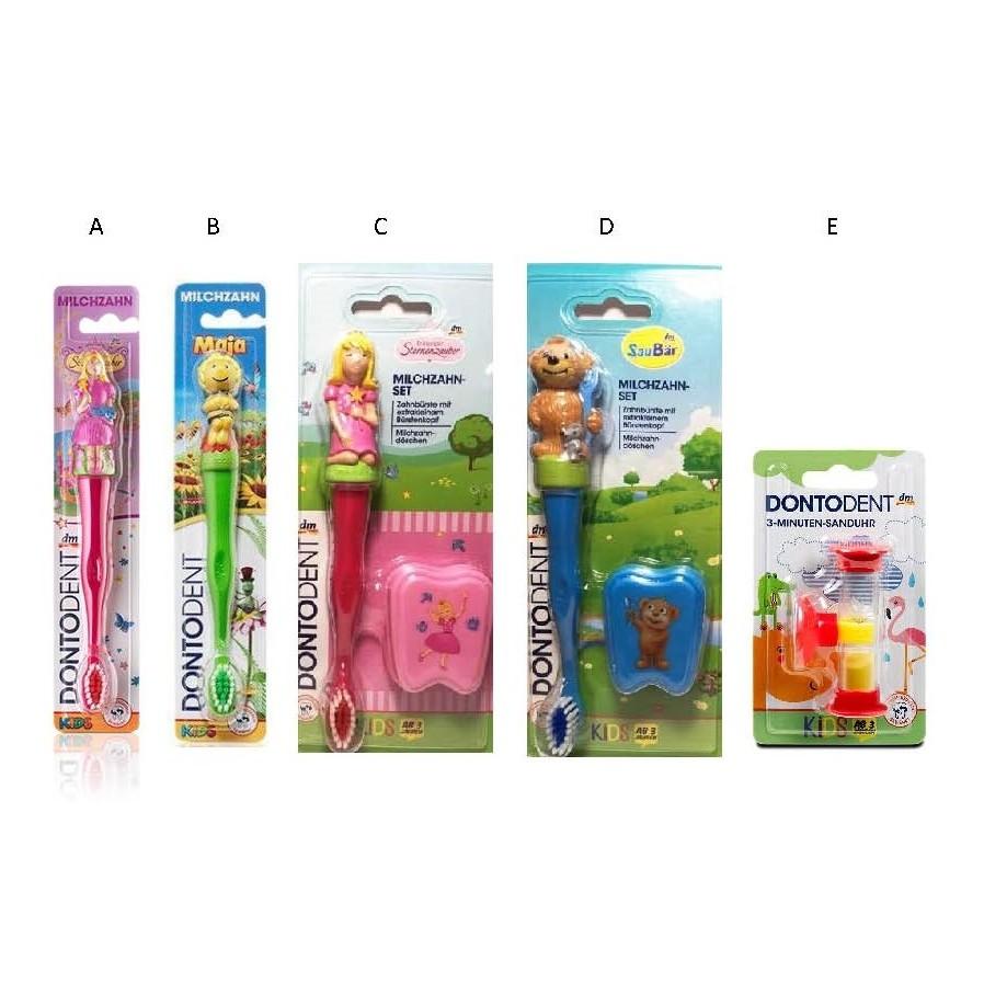 德國Dontodent 兒童 牙刷牙刷乳牙盒組計時小沙漏