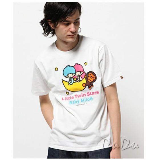 短袖T 恤男款女款上衣衣著日單原單出口 外銷雙子星棉質短袖T 恤潮牌潮T 日系短袖t 恤