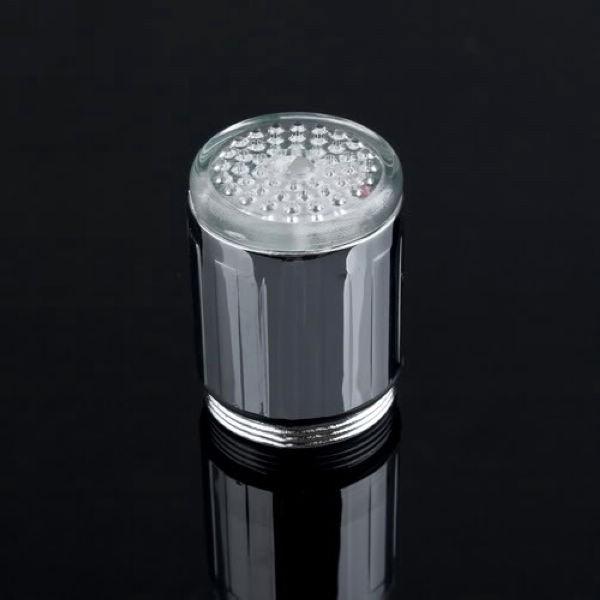 LED 七彩變色發光水龍頭微型水龍頭溫控發光自行發電