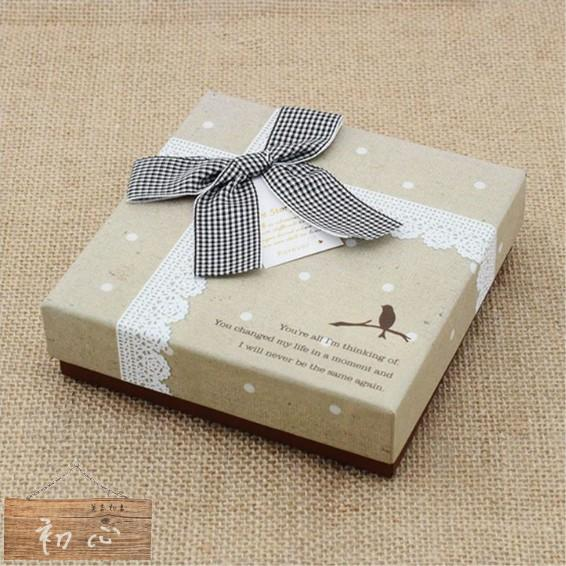 10 入九格包裝紙盒鳥兒X 仿布紋X 蕾絲可裝馬卡龍和巧克力及餅乾等 包裝送禮情人節生日z