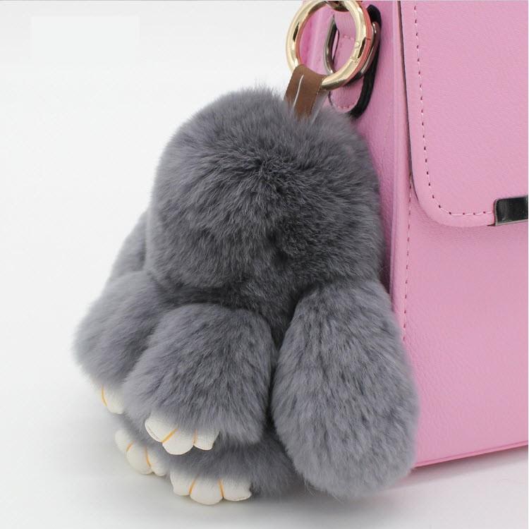 ~網紅名兔大18 公分~獺兔毛皮草萌萌兔毛毛兔10 色 可愛 皮包吊飾汽車掛件飾品 真皮草
