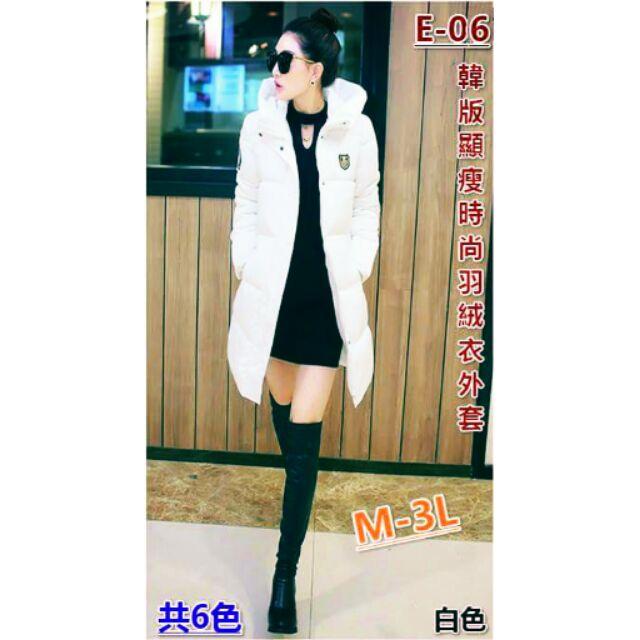 E 06 顯瘦 羽絨衣外套