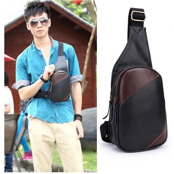 日韓男士PU 胸包青年潮流胸包戶外 腰包手提包側背腰包後背包手機包錢包3062