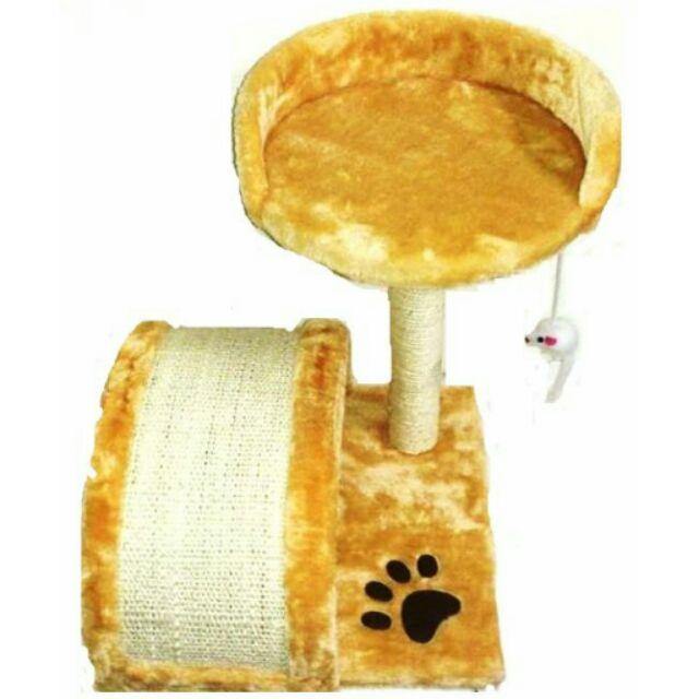 ~D2 座墊拱門小老鼠雙層貓跳台貓抓板~賣場內 多層貓跳台~