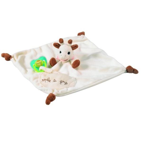 寶寶原單蘇菲長頸鹿娃娃頭多 搖鈴可掛奶嘴安撫巾口水巾娃娃玩具~貝兒比嬰童品~