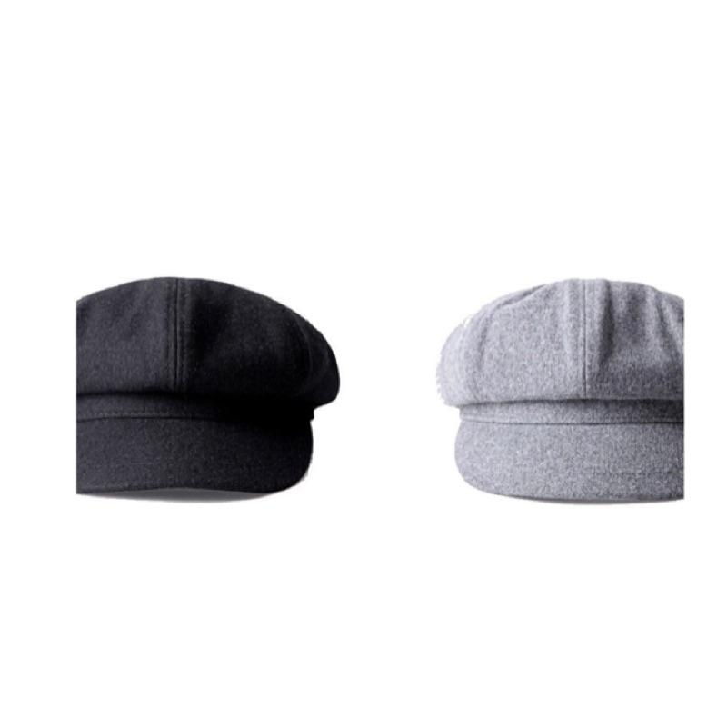 美式報童帽工裝狩獵帽毛呢羊毛厚挺 款畫家帽南瓜八角帽