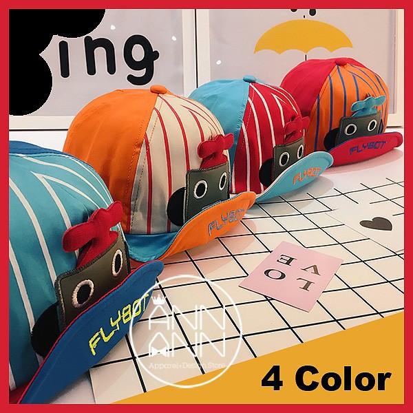~ANNANN ~寶寶鴨舌帽可愛機器人男女童遮陽棒球帽寶寶帽4 色~AN021604 ~