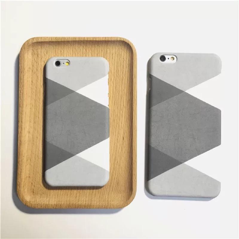 灰白交錯幾何圖形iphone 手機殼