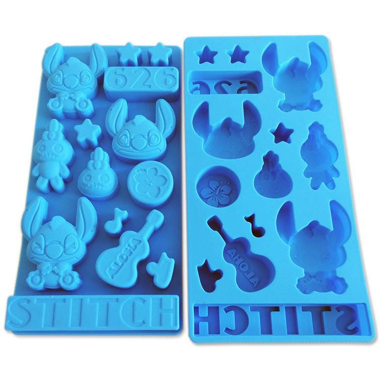 001 DIY 樂樂迪士尼史迪奇巧克力模小款矽膠模具果凍模巧克力模型冰塊模型 皂模製冰盒餅