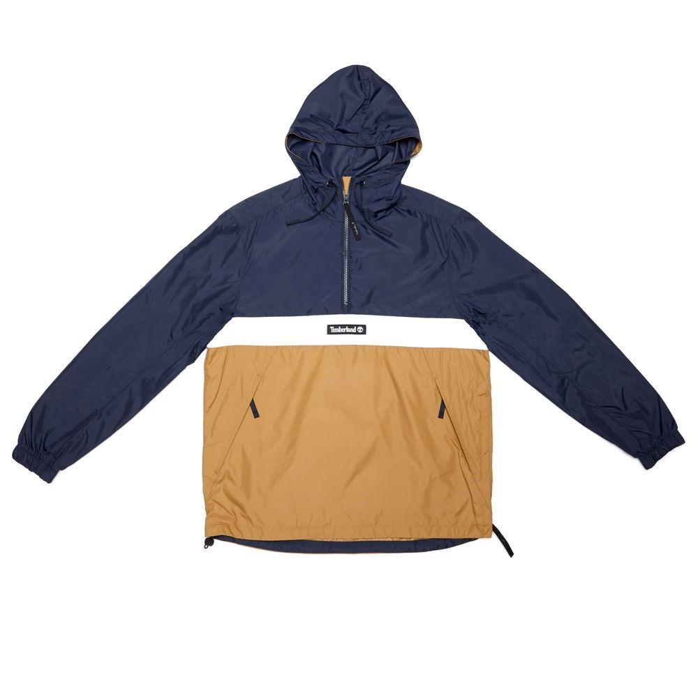 Timberland 男款 深寶石藍 小麥色 潮流 套頭 夾克
