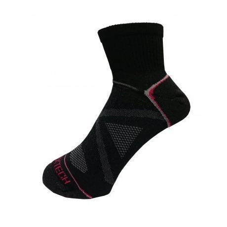 衣格EGXTECH ~X 型繃帶~FIX 1 多 中筒足弓保護 機能襪慢跑健步單車黑灰M