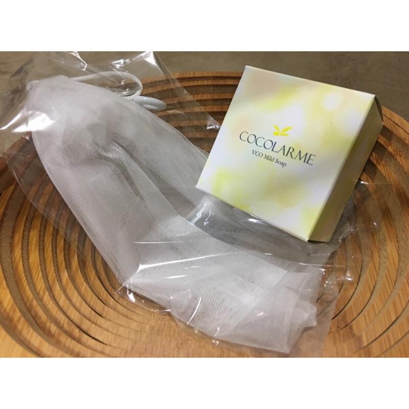 VCO 椰油精粹嫩白洗顏皂洗臉皂香皂(附起泡網 )VCO 嫩白保濕霜