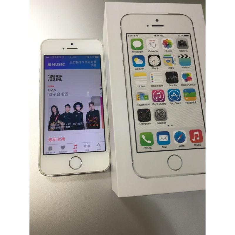 空機iPhone 5s 32g 銀色,狀況優~ 包