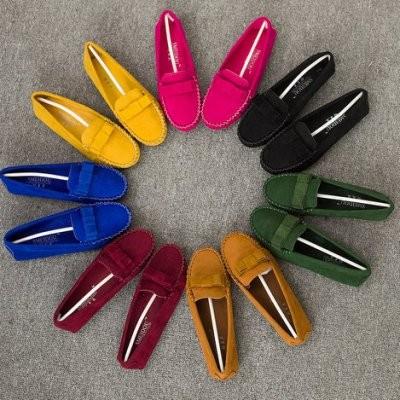 杉杉小舖新豆豆鞋女加絨單鞋子 潮平底蝴蝶結開車 女鞋棉鞋豆豆鞋樂福鞋平底鞋休閒鞋單鞋