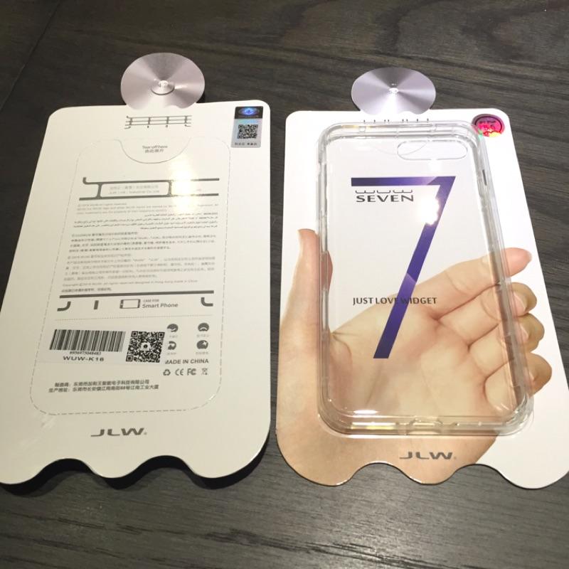 香港品牌wuw iphone7 7plus 曜石黑拍檔透明空壓軟殼防撞 免等